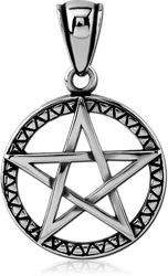 SURGICAL STEEL GRADE 316L PENDANT WITH BALE - STAR