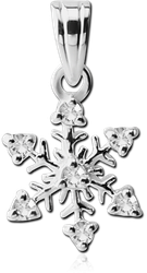 STERLING 925 SILVER JEWELED PENDENT - SNOWFLAKE