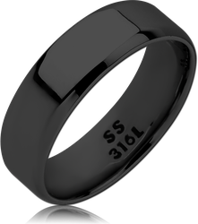 BLACK PVD COATED SURGICAL STEEL GRADE 316L RING