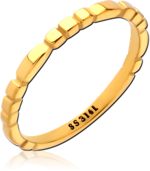 GOLD PVD COATED SURGICAL STEEL GRADE 316L RING