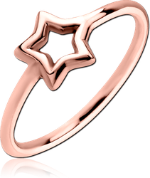 STERLING 925 SILVER ROSE GOLD PVD COATED  RING - STAR