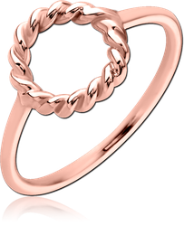 STERLING 925 SILVER ROSE GOLD PVD COATED RING - CIRCLE