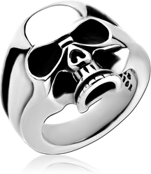 SURGICAL STEEL GRADE 316L RING - SKULL