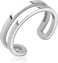 SURGICAL STEEL GRADE 316L OPEN RING