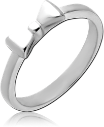 SURGICAL STEEL GRADE 316L RING - BOW