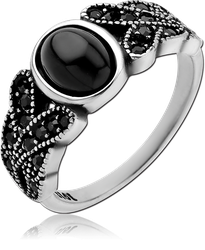 SURGICAL STEEL GRADE 316L JEWELED RING