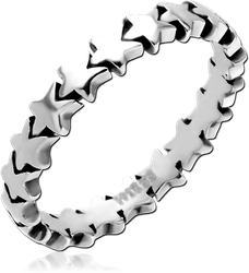 SURGICAL STEEL GRADE 316L RING - STAR