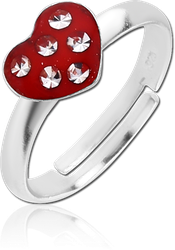 STERLING 925 SILVER RING - HEART