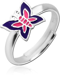 STERLING 925 SILVER RING - BUTTERFLY