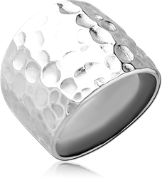 RHODIUM PLATED STERLING 925 SILVER RING