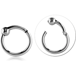 SURGICAL STEEL GRADE 316L HINGED SEGMENT RING WITH BALL