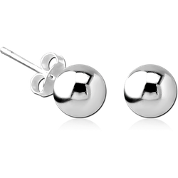 STERLING 925 SILVER EAR STUDS PAIR - BALL