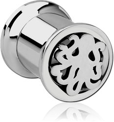 STAINLESS STEEL GRADE 304 DOUBLE FLARED INTERNALLY CUT OUT THREADED TUNNEL - SQUID