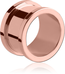ROSE GOLD PVD COATED SURGICAL STEEL GRADE 316L THREADED TUNNEL