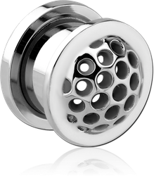 SURGICAL STEEL GRADE 316L THREADED TUNNEL - DOME