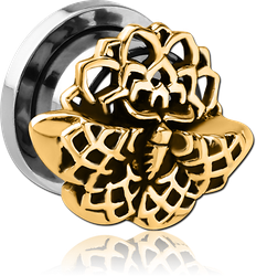 STAINLESS STEEL GRADE 304 THREADED TUNNEL WITH BASE METAL TOP - FILIGREE