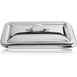 STAINLESS STEEL GRADE 304 INSTRUMENT TRAY LIDS FOR MTRI 23.5 X 13.8 CM