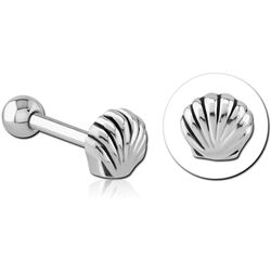 SURGICAL STEEL GRADE 316L TRAGUS MICRO BARBELL - SHELL