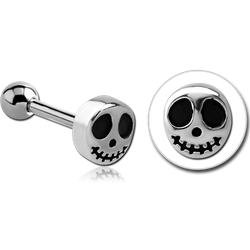 SURGICAL STEEL GRADE 316L TRAGUS MICRO BARBELL- GHOST