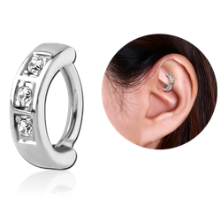 SURGICAL STEEL GRADE 316L JEWELED ROOK CLICKER