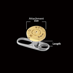measurement of DERMAL ANCHORS & SURFACE PIERCING