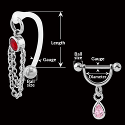 measurement of INTIMATE JEWELRY
