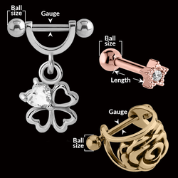 measurement of TRAGUS & HELIX